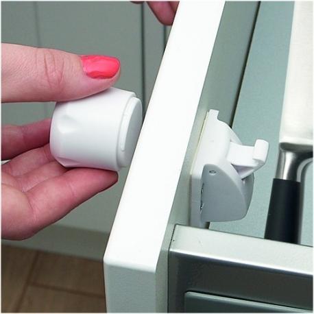 Clippasafe μαγνητικές κλειδαριές ασφαλείας ντουλαπιών - συρταριών σετ των 2