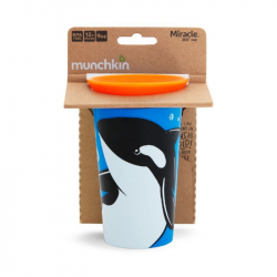 Munchkin κύπελο Miracle® 360° WildLove Sippy Orca 266 ml