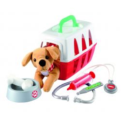 Βαλιτσάκι κτηνιάτρου Ecoiffier Medical με σκυλάκι