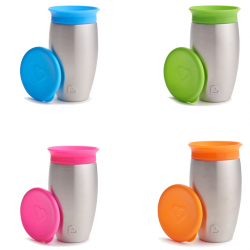 Munchkin κύπελλο και καπάκι Miracle® 360° Stainless Steel Sippy 296 ml