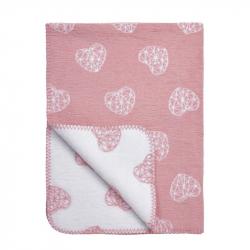 Κουβέρτα Meyco Geometric Heart 120 x 150 cm