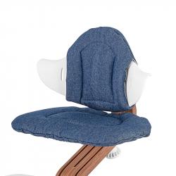 Μαξιλάρια διπλής όψης για καρέκλα Nomi Highchair Cushion Denim - Striped