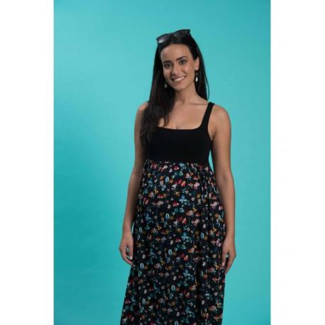 Φόρεμα εγκυμοσύνης μακρύ Omor