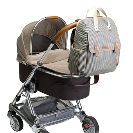 Τσάντα - αλλαξιέρα Babymel™ Robyn Convertible Navy Stripe