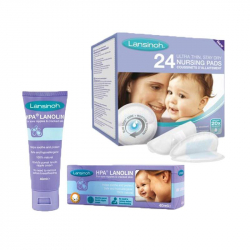Lansinoh® κρέμα HPA® Lanolin 40 ml + ΔΩΡΟ επιθέματα θηλασμού 24 τεμάχια
