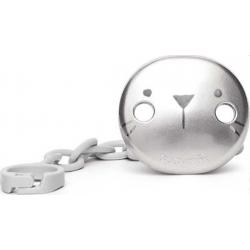 Suavinex κλιπ πιπίλας Premium Metallic Effect Hygge Baby Grey