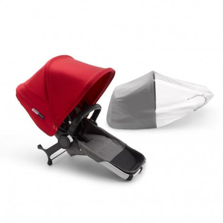 Σετ επέκτασης καροτσιού Bugaboo Donkey3 Aluminum - Grey Melange / Red
