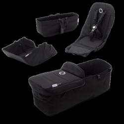 Σετ κάθισμα, port-bebe και αξεσουάρ καροτσιού Bugaboo Donkey3 Style Set Black