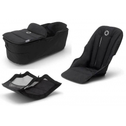 Σετ κάθισμα, port-bebe και αξεσουάρ καροτσιού Bugaboo Fox2 Style Set Black