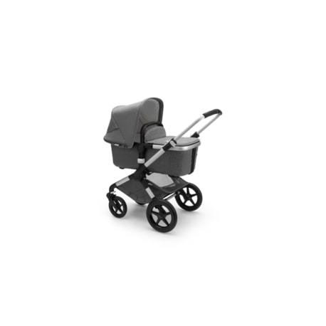 Καρότσι και port-bebe Bugaboo Fox2 Complete Black - Grey Melange