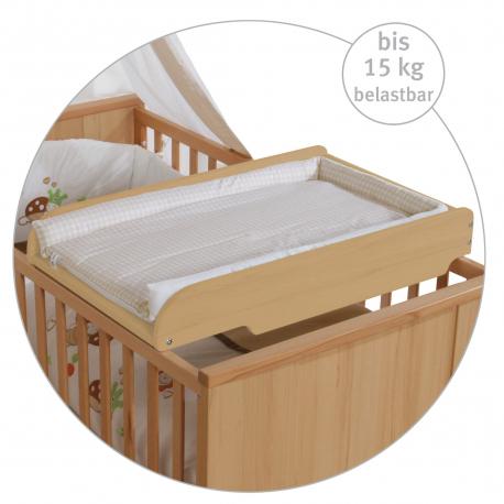 Αλλαξιέρα κρεβατιού με στρώμα Roba® Natural Vichy Beige
