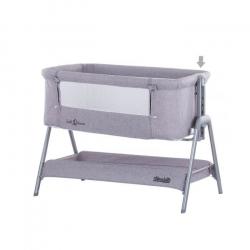 Λίκνο προσαρμοζόμενο δίπλα στο κρεβάτι των γονέων ChipoLiNo Sweet Dreams Grey