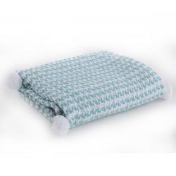 Κουβέρτα βαμβακερή Nef-Nef Homeware Sometime Aqua 110 x 150 cm