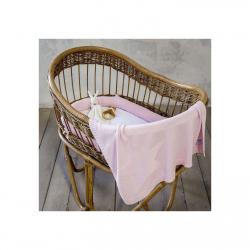 Σετ πάντα και κουβερτα βαμβακερή λίκνου Nima Bebe Hoodoo Pink 75 x 90 cm