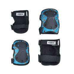 Σετ προστατευτικά για γόνατα και αγκώνες Micro Knee & Elbow Pads Blue S