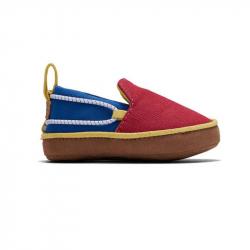 Παπούτσια αγκαλιάς TOMS Tiny Lima Layette Red / Blue Canvas