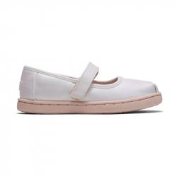 Παπούτσια TOMS Tiny Mary Jane Flats White Iridescent Woven