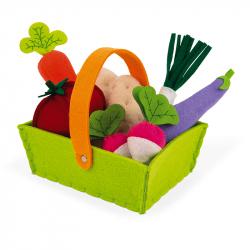 Καλάθι υφασμάτινο με λαχανικά Janod