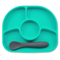 BBluv® σετ πιάτο και κουτάλι Yumi Aqua