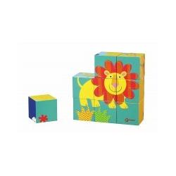 Ξύλινο παλζ με κύβους Classic world™ Pet Blocks Puzzle 9 τεμάχια