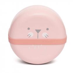 Suavinex σετ πιάτα με καπάκι Bentoo Hygge Baby Pink
