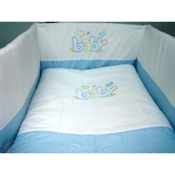 Προίκα κρεβατιού Nona Bebe με κέντημα Baby σετ των 3