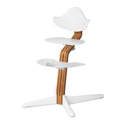 Καρέκλα φαγητού Nomi White με ξύλινη βάση Stem Premium Natural Oil Oak