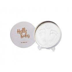 Κουτί για αποτύπωμα μωρού Baby Art Magic Box Round Shiny Vibes