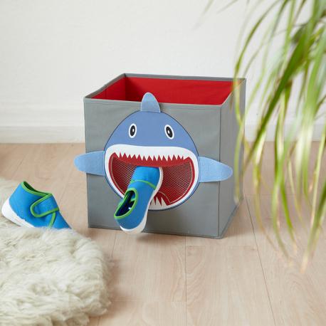 Κουτί αποθήκευσης με διχτυωτό παράθυρο LOVE IT STORE IT Pico Mundo Shark