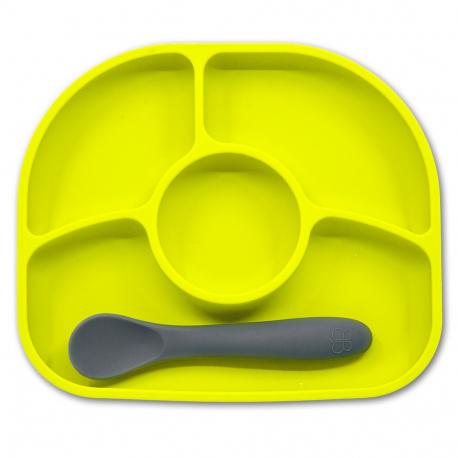 BBluv® σετ πιάτο και κουτάλι Yumi Lime