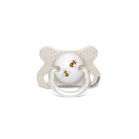 Suavinex πιπίλα Fusion Anatomical The Bee White 2-4Μ