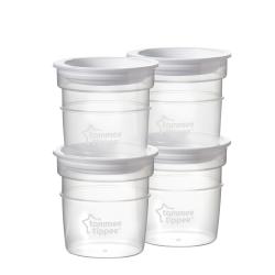 Tommee tippee δοχεία αποθήκευσης γάλακτος 60 ml σετ των 4