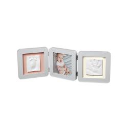 Διπλή κορνίζα για αποτύπωμα μωρού Baby Art My Baby Touch White