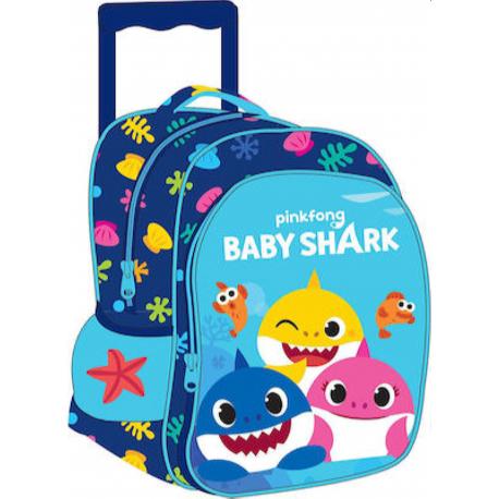 Σακίδιο νηπιαγωγείου με τρόλεϊ GiM Pinkfong Baby Shark
