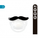 Kiokids® πιπίλα Mr & Mrs μαύρο μουστάκι 6Μ+