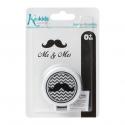Kiokids® κλιπ πιπίλας Mr & Mrs μαύρο μουστάκι
