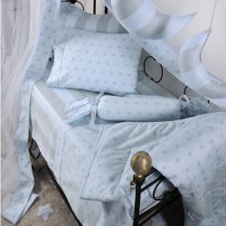 Κουβερλί DOWN TOWN BABYStar Grey - Ciel 95 x 145 cm