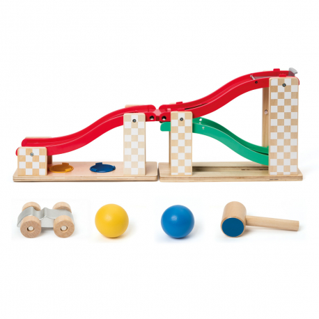 Παιχνιδι διαλογής με σφυρί και πίστα αυτοκινήτων Oxybul MANibul