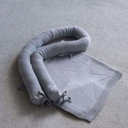 Σετ πάντα και κουβερτα βαμβακερή λίκνου Nima Bebe Hoodoo Grey 75 x 90 cm