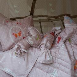 Κουβερλί DOWN TOWN BABY Butterfly Dreamland με πιετάκι 95 x 145 cm
