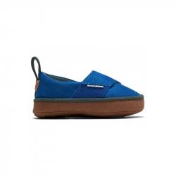 Παπούτσια αγκαλιάς TOMS Tiny Pinto Layette Blue Microsuede