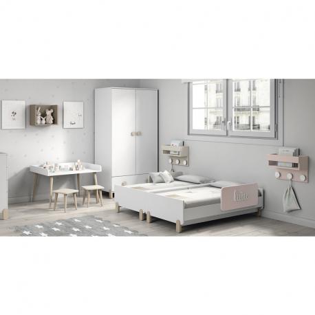 Διπλό βρεφικό κρεβάτι διδύμων Ros Duo Plus Blanco