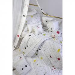 Σεντόνια DOWN TOWN BABY Numbers & Dots 125 x 175 cm σετ των 3
