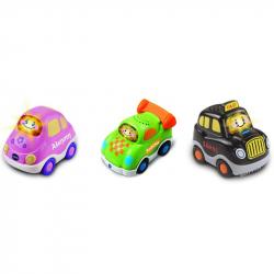 Οχήματα 3 σε 1 καθημερινής χρήσης Vtech® Baby Toot-Toot Αυτοκίνητα™, σετ των 3