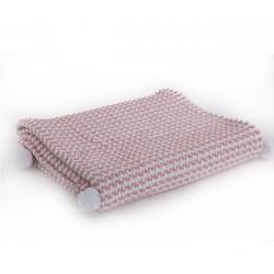 Κουβέρτα βαμβακερή Nef-Nef Homeware Sometime Pink 110 x 150 cm
