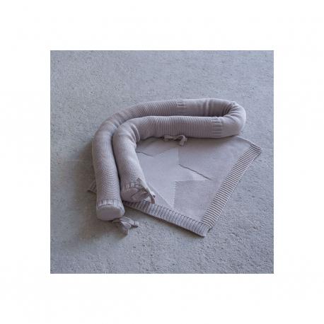 Σετ πάντα και κουβερτα βαμβακερή λίκνου Nima Bebe Hoodoo Beige 75 x 90 cm