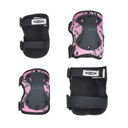 Σετ προστατευτικά για γόνατα και αγκώνες Micro Knee & Elbow Pads Pink S