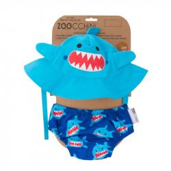 Σετ πάνα - μαγιό και καπέλο ZOOCCHiNi™ Sherman the Shark 6-12 μηνών