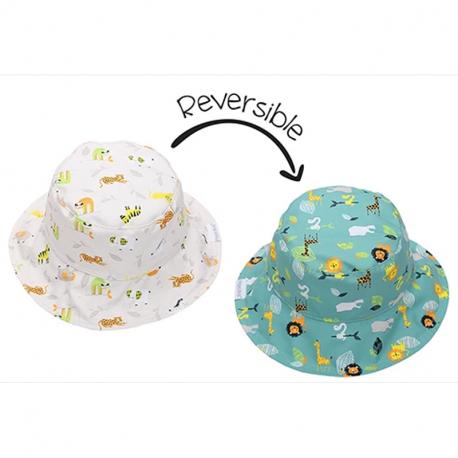 Καπέλο διπλής όψης FlapJackKids Grey Zoo 2-4 ετών