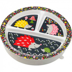 Sugarbooger® αντιολισθητικό πιάτο μελαμίνης Hedgehog με διαχωριστικά